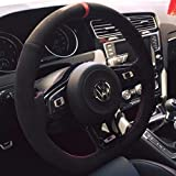 vw r steering wheel - Suede GTI Clubsport Steering Wheel Cover for VW Golf MK7 Scirocco Polo R GTI GLI 2013 + DSG models