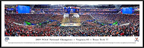 Cavaliers Wall Framed (Virginia Cavaliers, 2019 NCAA Basketball Champions - Standard Framed Print by Blakeway Panoramas)