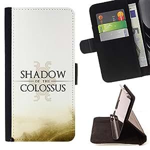 KingStore / Leather Etui en cuir / Samsung Galaxy S4 Mini i9190 / Shadow Of The C0Lossus