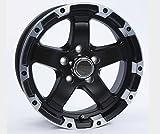 TWO (2) Aluminum Sendel Trailer Rims Wheels 5 Lug 14'' T08 Black Style