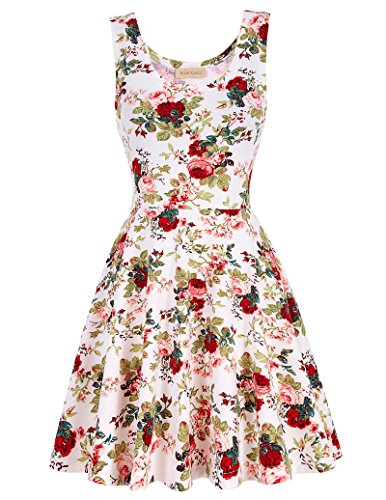 Women's Floral Patterned Formal Dress for Wife KK297-2_S