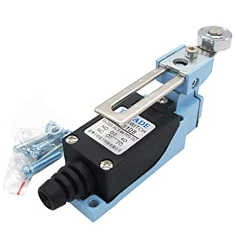 ME-8108 DC 115V 0.4A Momentary Limit Switch Adjustable Roller Lever Arm