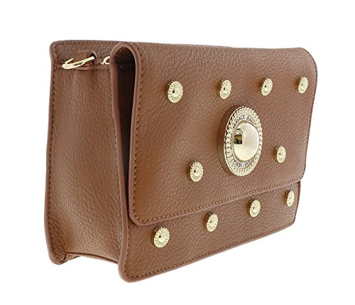 fc9da5faea82 Amazon.com  Versace EE1VQBBR6 E903 Tan Crossbody Bag for Womens  Shoes