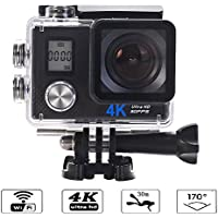 ZgmdaHOME 4K Dual Screens Underwater Action Camera WiFi 2.0 LCD Ultra HD Video 16MP 170 Wide Angle Lens.