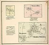 Historic 1866 Map | Leesville [Village]; Leesville Business Directory. ; Sharon Spri | Antique Vintage Map Reproduction
