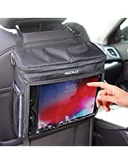 """Tablet Holder for Car, Macally Insulated Car Back Seat Organizer - A Must Have for Long Drives - Compatible with any Vehicle Headrest & for iPad Pro/Air/Mini, Tablets, iPhone, Smartphones up to 10.5"""""""