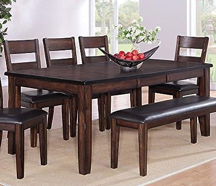 Amazon.com - Maldives Dark Chocolate Wood Dining Table w ...