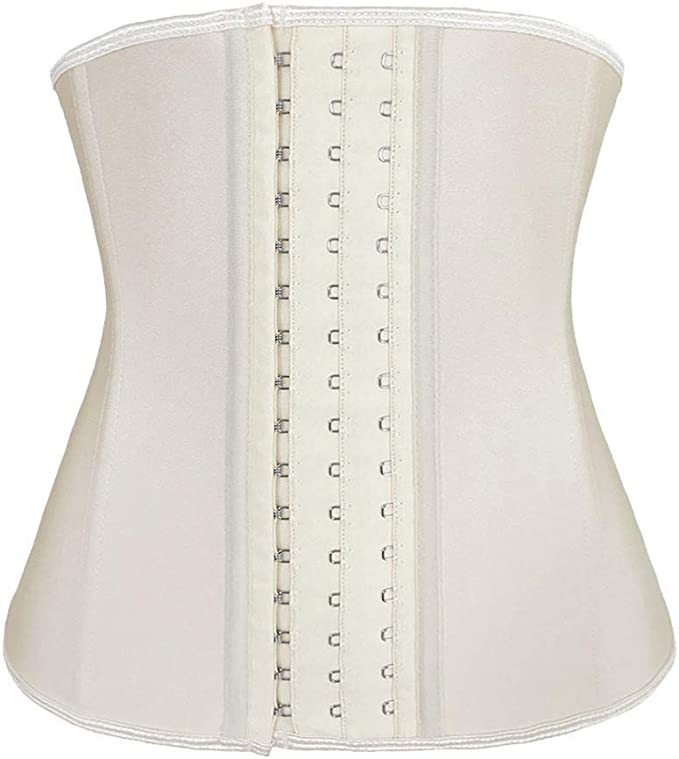 Lilith-Lover Dreamburn Waist Trainer Women Latex Corset Shapewear 3 Hook 9 Steel Bones Weight Loss Adjustable Slimming Body Shaper Tummy Control Girdle