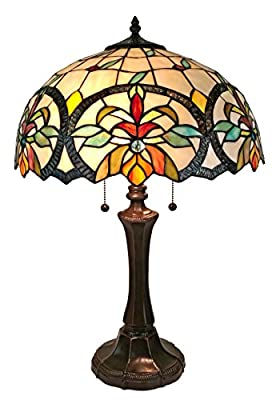 Amora Lighting AM313TL16 Tiffany Style Multi-Color Mission Table Lamp 18 Inches Tall