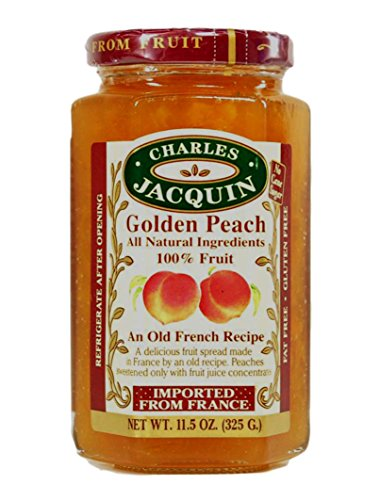 Charles Jacquin French All Natural Fruit Spread 11.5 Ounce Imported From France (Golden Peach)