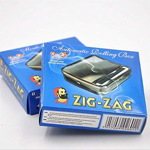 OCB Máquina para Liar Cigarrillos 16925 Zig Zag Rolling para Unos Cigarrillos, Cromo, Plateado, 8 x 8 x 2 cm