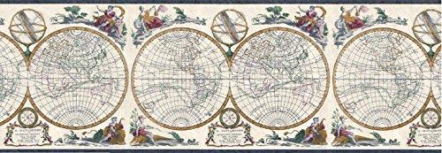 (Globes Wallpaper Border B4193EB)