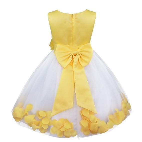 282259d70 Freebily Vestidos Verano de Niñas Blanco Elegante Boda Fiesta Bautizo Flor  Disfraz de Princesa con Flores Interiores Ceremonia Cóctel Infántil:  Amazon.es: ...