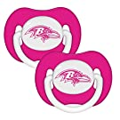 NFL Football 2014 Baby Infant Girls Pink Pacifier 2-Pack - Pick Team (Baltimore Ravens - Pink)