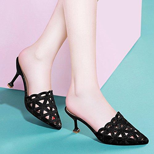 e2198620 Hembra Tacones Mujer SraZapatas La Zapatos Gatos Noche A Sandalias Alto  Black De Tacón Huaihaiz Con Detección wOXn0P8k