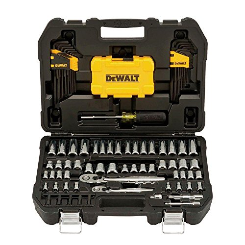 Professional Mechanic Tool Set Chrome with Case (108-Pc). Complete Mechanics Tools Kit w/Box Organizer & Storage has Variety of Automotive Equipment & Accesories for Car Repair. Gift for Men & Women by DEWALTS Tools (Image #6)