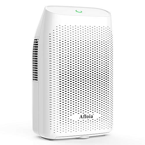 Afloia Portable Electric Dehumidifier for Home 2000ML Water Tank, Home Dehumidifier for Bathroom Dehumidifier for Basement Space Bedroom Kitchen Caravan Office Basement Bedroom Bathroom
