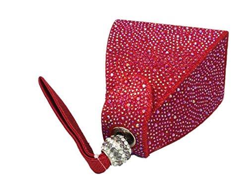 FZHLY Paquete De Banquete Triángulo Tridimensional Ladies Evening Bag,Gray Red