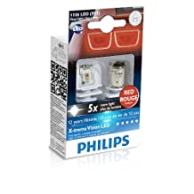 Philips (12898RX2) Red P21W LED Exterior Bulb
