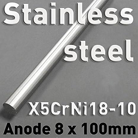 Zinc - Varillas de metal puro, 8 x 100 mm, elemento químico #30, para el análisis comparativo de las propiedades del material, muestras de referencia, ...