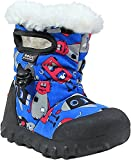 Bogs Baby Bmoc Monsters Snow Boot, Light Blue/Multi, 8 M US Toddler