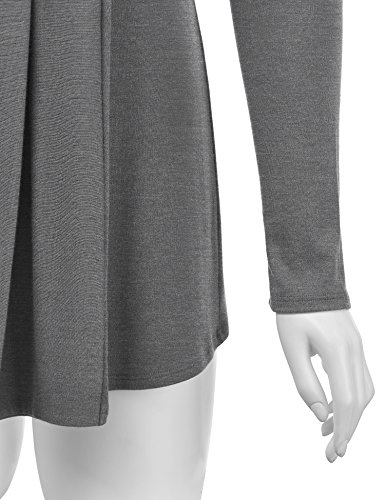 Lock and Love WSK1301 Womens Open Draped Knit Shawl Cardigan M Heather_Dark_Grey by Lock and Love (Image #3)