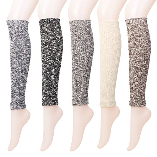 FITEXTREME 5 Pairs Womens Knitted Cotton Winter Slipper warm Leg Warmers