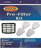 2 Shark Navigator Lift-Away NV350, NV351, NV352, NV355, NV356, NV356E, NV357 Pre-Filter Kits (Containing 2 Foam and 2 Felt Filters) + 1 Hepa Filter Replaces Shark Part # XFF350 & # XHF350