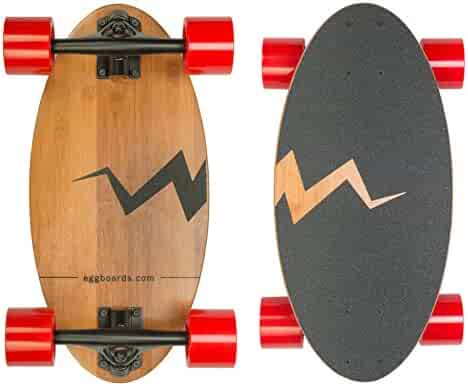 Image result for Mini Longboard Skateboard Made with Bamboo Wood. Its 19 inch Cruiser Skateboard Deck Makes it The Smallest Among Skateboards and Longboards. Complete Skate Board