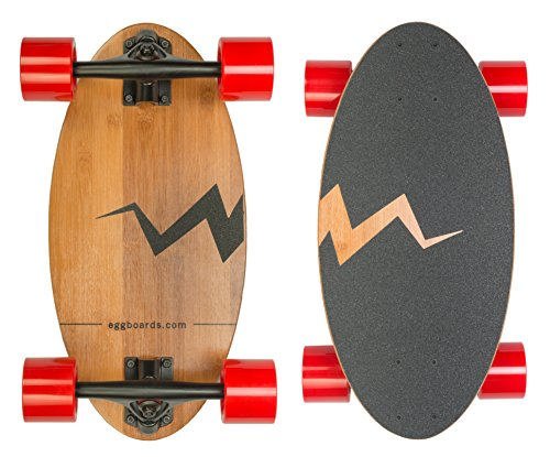 Eggboards Mini Longboard Skateboard made with Bamboo Wood. Its 19 inch Cruiser Skateboard Deck makes it the Smallest among Skateboards and Longboards (Small Cruiser)