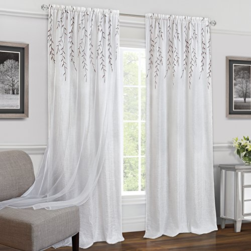 Achim Home Furnishings Willow Rod Pocket Window Curtain Panel, 42