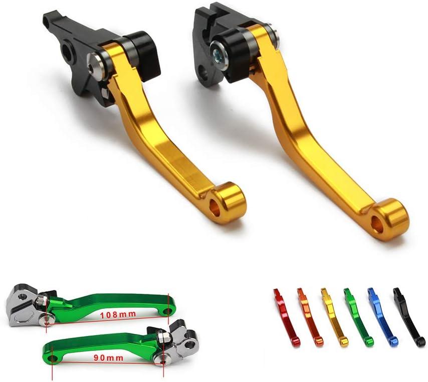 Ysmoto Cnc Billet Pivot Faltbare Kupplung Bremshebel Für Suzuki Rmz250 Rmz 250 04 07 18 Rmz450 Rmz 450 05 18 Motorrad Motorcross Dirt Bike Gold Auto