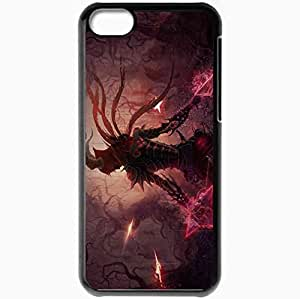 Personalized iPhone 5C Cell phone Case/Cover Skin Art Hunter Demons Armor Weapon Quiver Black