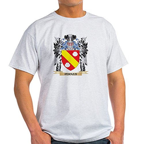- CafePress Perazzi Coat of Arms - Family CRES T-Shirt 100% Cotton T-Shirt Ash Grey