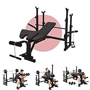 Olympic Weight Benches Multifunctional Weight-lifting Bed Weight lifting Machine Fitness Equipment ,Body Workout Multi-Functional Strength Training Home Gym Fitness Equipment