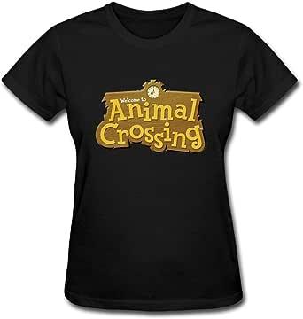 Duanfu Animal Crossing Logo Women's Cotton Short Sleeve T-Shirt