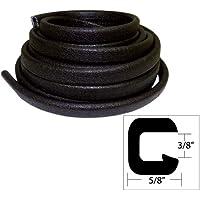 TACO METALS TACO Flexible Vinyl Trim8540; Opening x8541;W x 25039;L - Black / V30-1312B25-1 /