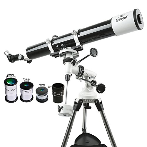 Gskyer Eq 80900 Telescope, German Technology Telescope, Starwatcher Refractors, White, Single