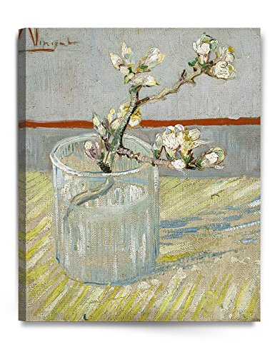 DecorArts - Sprig of Flowering Almond Blossom in a Glass