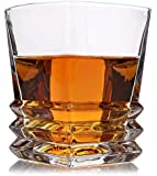 Elegance Whiskey Glasses Luxury Gift Box Set of 4. Lead Free Modern Crystal. Perfect Gift of Whisky Tumblers Glass as a Christmas Present, Birthday, Fathers and Mothers Day,. Money back satisfaction guarantee.