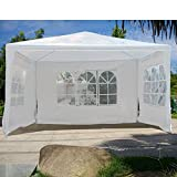Senrob Canopy Tent with Removable Sidewalls Windows Outdoor Beach Wedding Party Car Activity Event (10' x 10'(16.5 lbs))
