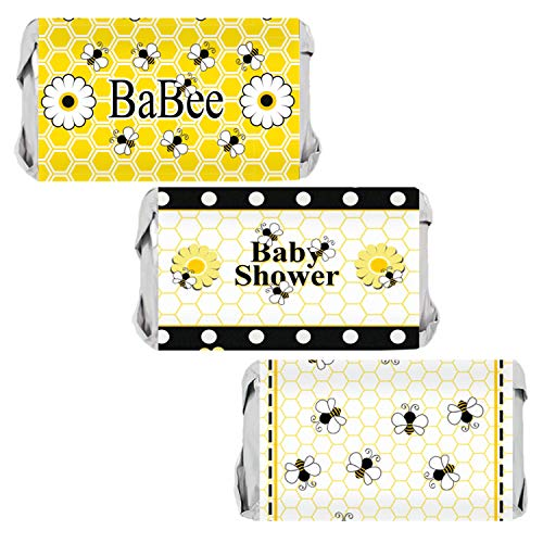 Bumble Bee Baby Shower Favor Mini Candy Bar Wrappers | 54 ()