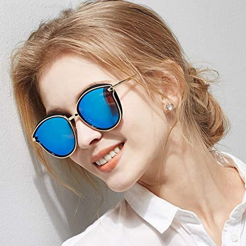 Color Fashion HQCC Femmes Lens Option Quatre Soleil Lunettes en de Frame Conduite Bleu polarisées pour Big de Miroir Couleurs wY88S1xp