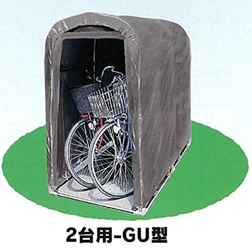 自転車置き場 南栄工業 サイクルハウス 2台用-GU型 本体セット 『DIY向け テント生地 家庭用 サイクルポート 屋根』 B072X7CZRB 14200