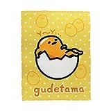 "Gudetama Soft Warmer Blanket (White Dots) 75 x 100cm / 29"" x 39"""