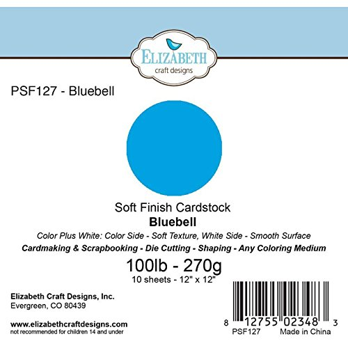 Elizabeth Craft Designs PSF127 Soft Finish Cardstock 12X12 10/Pkg-Bluebell by Elizabeth Craft Designs B01CZBTQFG