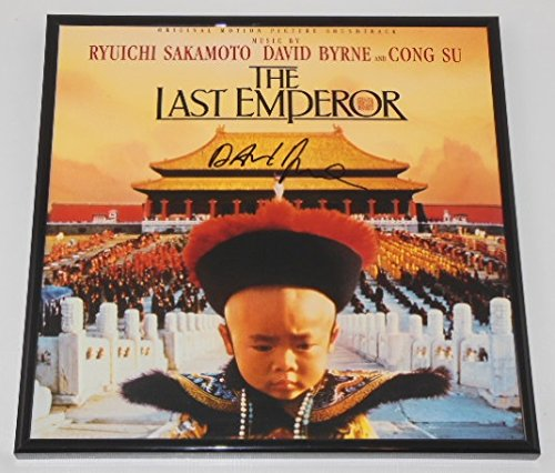 Autographed Record - The Last Emperor David Byrne Authentic Signed Autographed Motion Picture Soundtrack Record with Vinyl Framed Loa