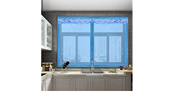 Pegatinas mágicas Pantalla de puertas para casas,El mosquito Pantalla de puertas con imanes Cremallera Magnético de la malla puerta del velcro No magnético Invisibilidad Se ajusta el tamaño de la ventana-H 180x200cm(71x79inch):