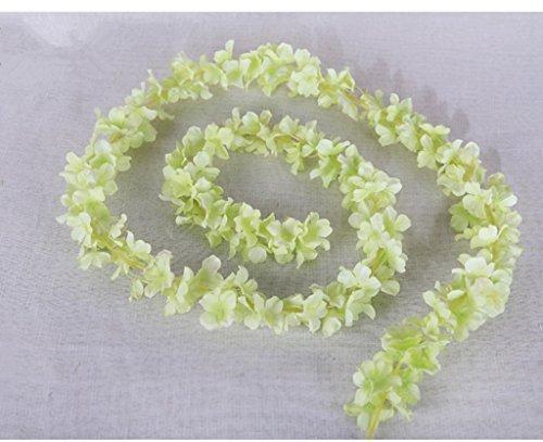 Silk Petals Baby Dresses - Nyalex 2M 5pcs/lot Elegant Artificial Flowers Silk Wisteria Hydrangea Vine Hanging Fake Flower Wedding Party Art Decor Plant [A6]