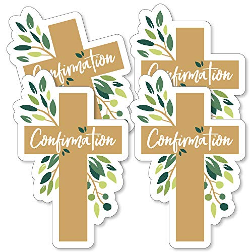 Confirmation Elegant Cross - Decorations DIY Religious Party Essentials - Set of 20 -